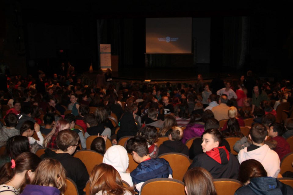 Elementary school students at the Sault Community Theatre Centre for the fifth annual Sault Ste. Marie Science Festival kickoff, April 23, 2019. Darren Taylor/SooToday