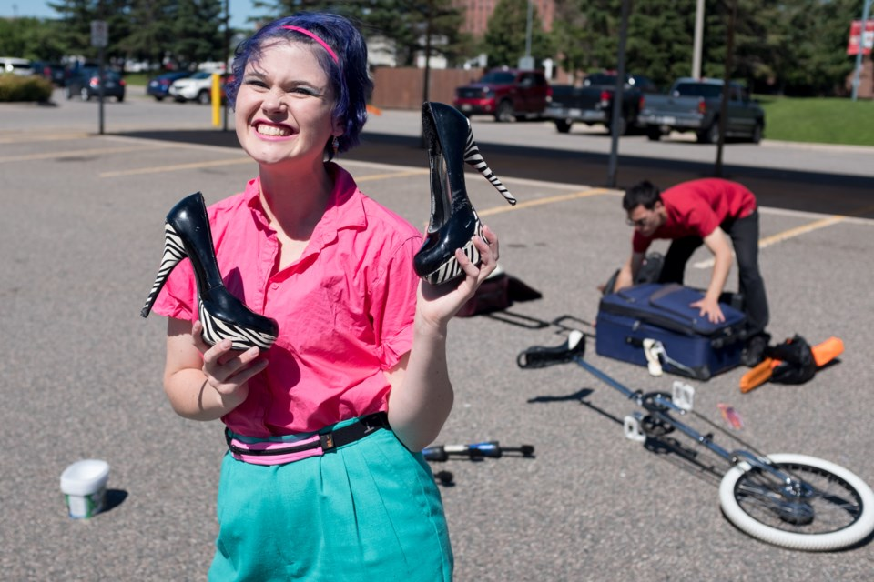 Soon you'll be calling her Dr. Mogo. Morgan Anderson, who goes by the stage name 'Mogo', is on her way to getting her PhD in Theatre and Performance at York University with a focus on juggling. Mogo is performing at Fringe North from August 10-20. Jeff Klassen/SooToday