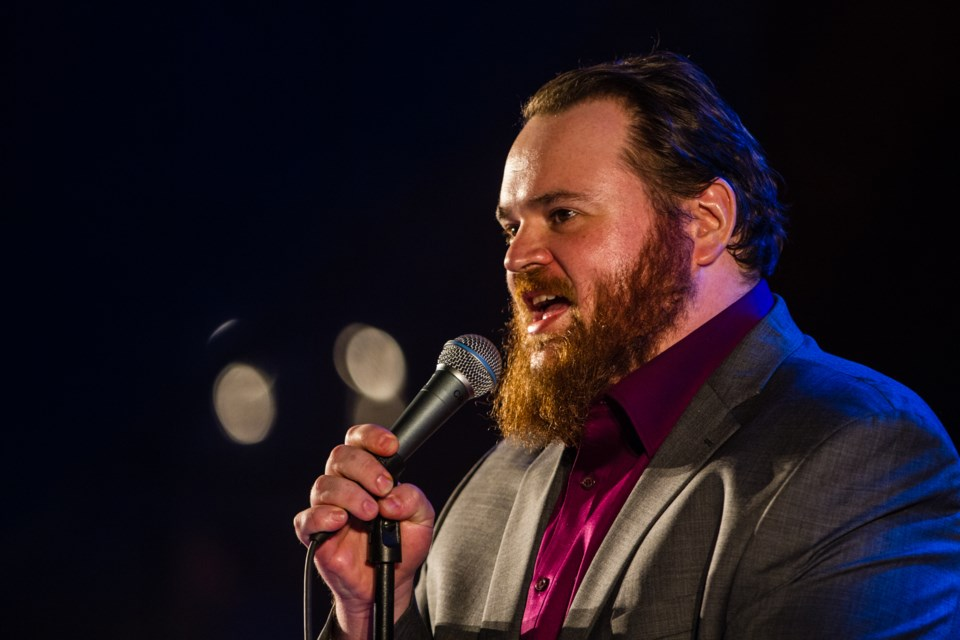 K. Trevor Wilson headlined the WTF Feature Variety Show at the Canadian Bushplane Heritage Centre on Saturday, June 9, 2018. Donna Hopper/SooToday
