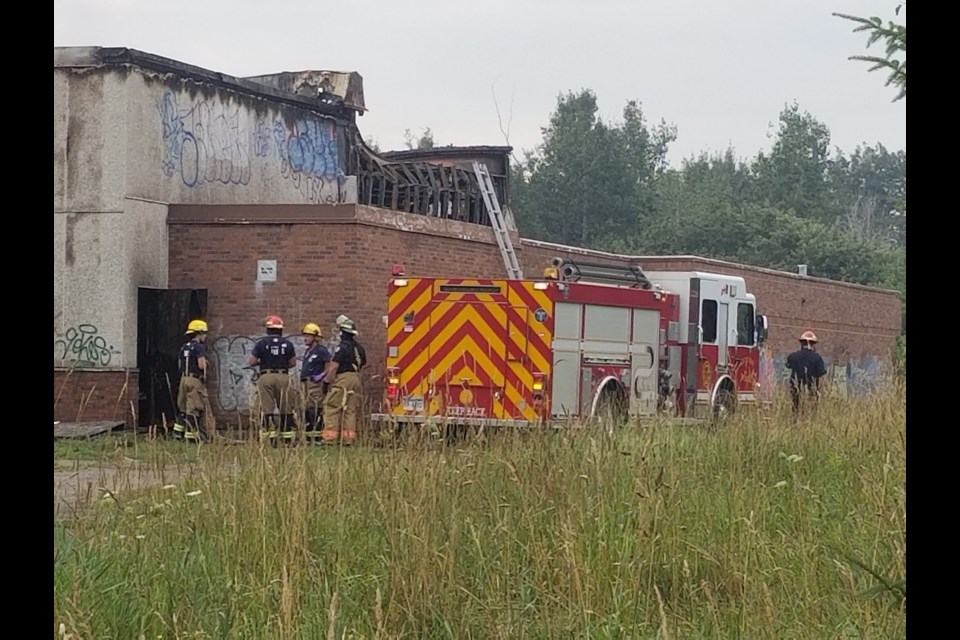 Police are investigating last night's fire at the former St. Veronica Catholic school as arson. James Hopkins/SooToday