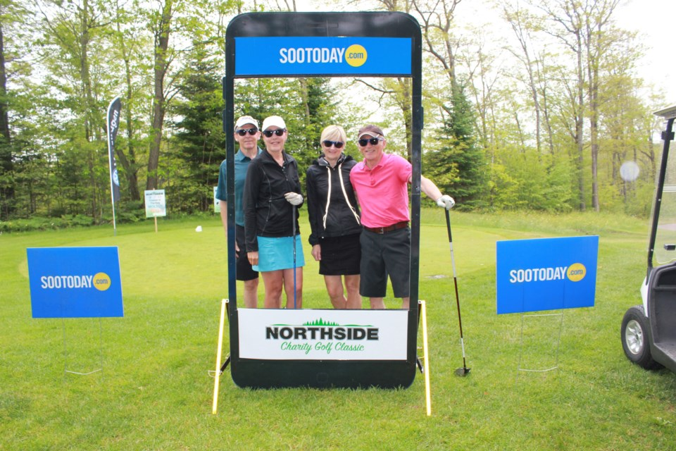 Golfers at the Northside Charity Golf Classic 2018