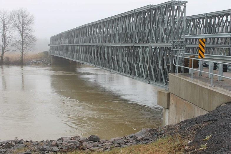 The new bailey bridge over the Goulais River is pictured in this supplied photo.