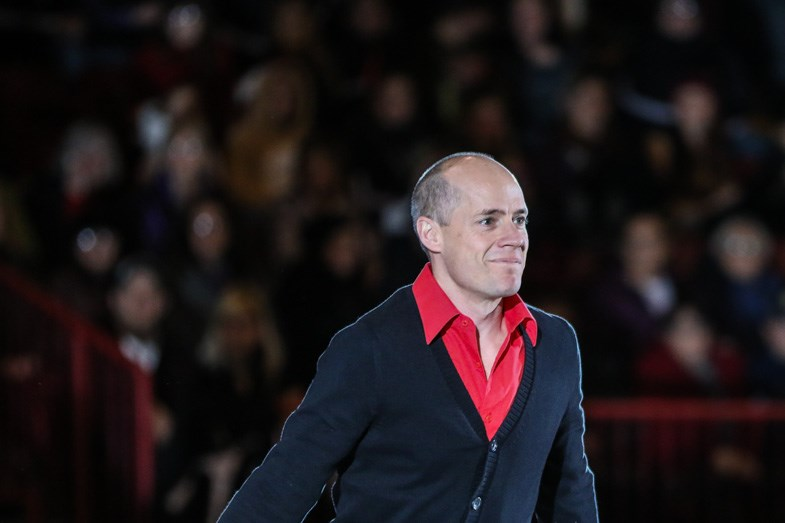 Kurt Browning during the opening cast number for Holiday Festival on Ice at the Essar Centre in Sault Ste. Marie on Sunday, December 7, 2014. Donna Hopper/SooToday