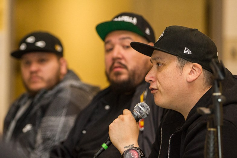 A Tribe Called Red met with fans following a public Q&A session at the Urban Aboriginal High School on Tuesday, August 25, 2015. Donna Hopper/SooToday