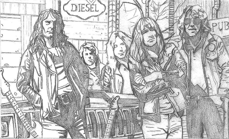 Sketch by Darren Emond for upcoming Iron Maiden comic.