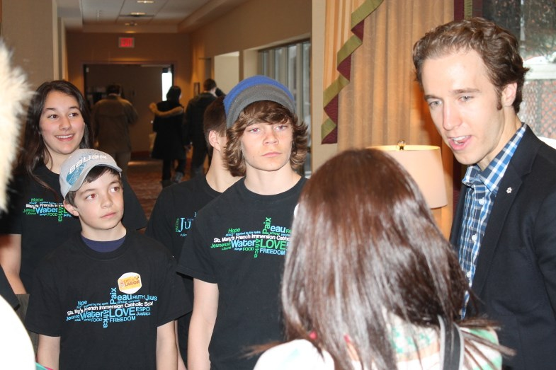 Kielburger with St. Mary's French Immersion students