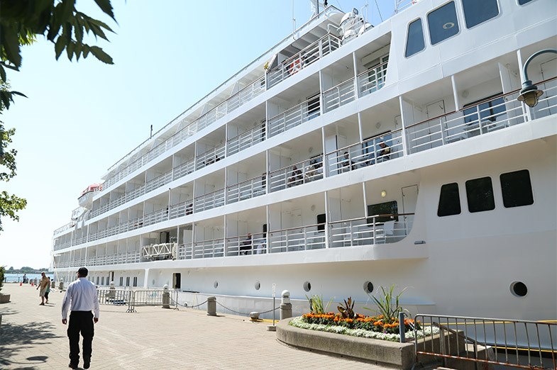 The Pearl Mist has a capacity of 210 passengers and is expected to bring approximately 1200 toursits to Sault Ste. Marie this year. SooToday.com/Kenneth Armstrong
