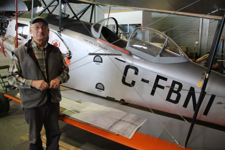 The Sault's John Lalonde and a team of volunteers have worked on this Fox Moth reproduction aircraft for 20 years. Darren Taylor/SooToday
