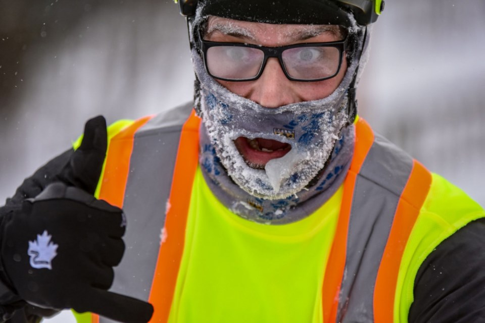 Sault cyclist Jan Roubal braves the elements in the Arrowhead 135 winter race, held in Minnesota Jan. 28 and 29, 2019. Photo supplied