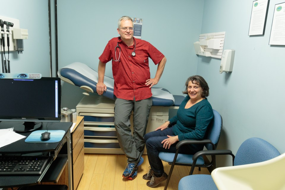 Dr. Al McLean and his wife, nurse Susan McLean, practice at a free Thursday walk-in medical clinic at the Neighbourhood Resource Centre. Jeff Klassen/SooToday