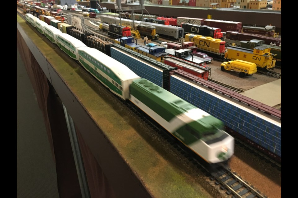 A sampling of some of the rich detail poured into the Sault Ste. Marie Model Railroad Club's miniature railroad and surrounding miniature city, on display at Wellington Square Mall, Feb. 17, 2018. Darren Taylor/SooToday
