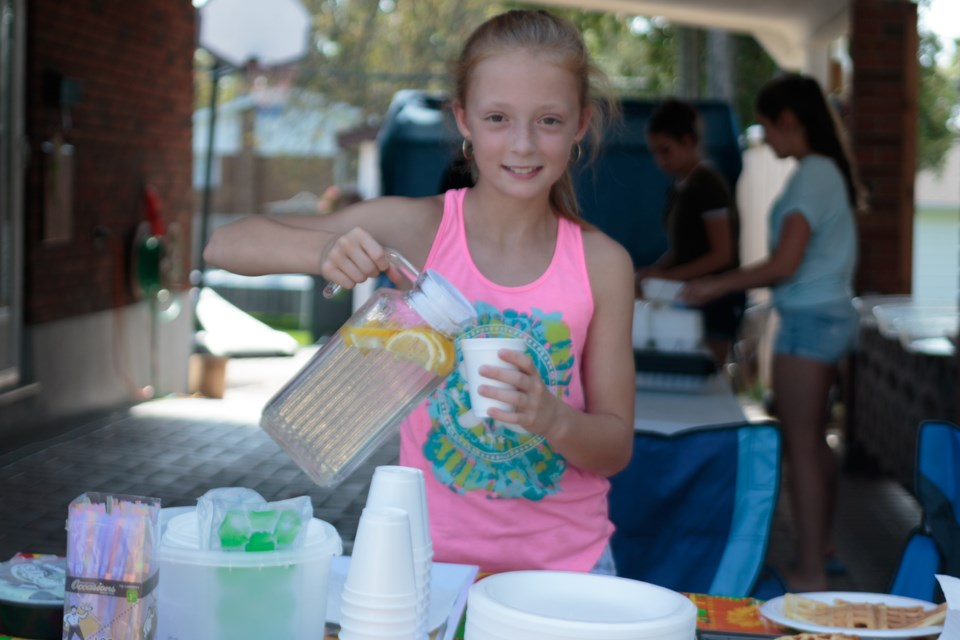 When Sydney Drover, 11, found out about Nick Hurst and his battle with cancer, even though she had never met him, she decided to put on a bake sale to raise money for him. The next week, on Saturday September 23, she held another one and in total raised over $2000 so that the boy could get back some of his childhood that he lost to the disease. Jeff Klassen/SooToday