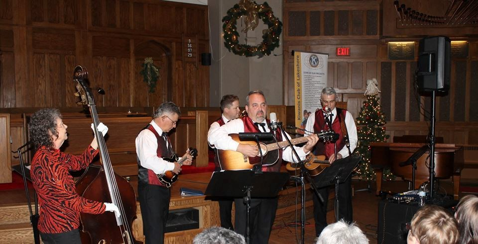 Dave Anich Band and Sheldon Jaaskelainen at the 2nd annual Old Time Christmas Concert. Photo courtesy Kiwanis Club of Lakeshore