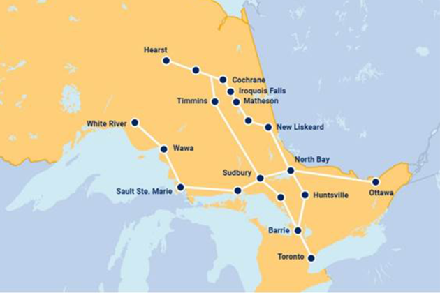 New year brings new routes for Ontario Northland Bus Service