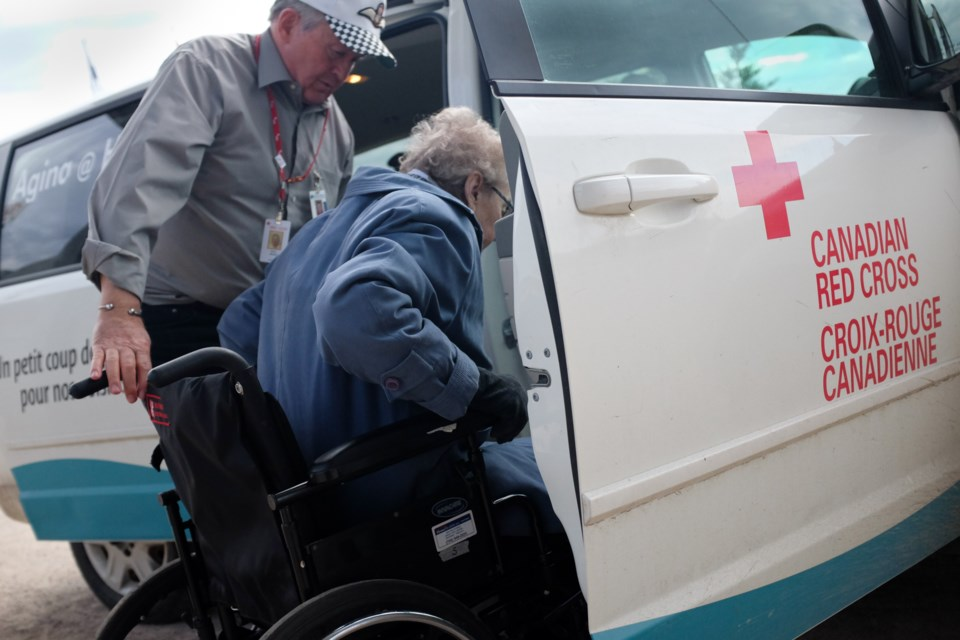 Doug Brown,74, is an outstanding local volunteer. He spends 30 or more hours a week volunteering, mostly driving seniors around for the Red Cross. Brown is lucky to be still physically capable after suffering severe head trauma in 2005. Photo by Jeff Klassen for SooToday