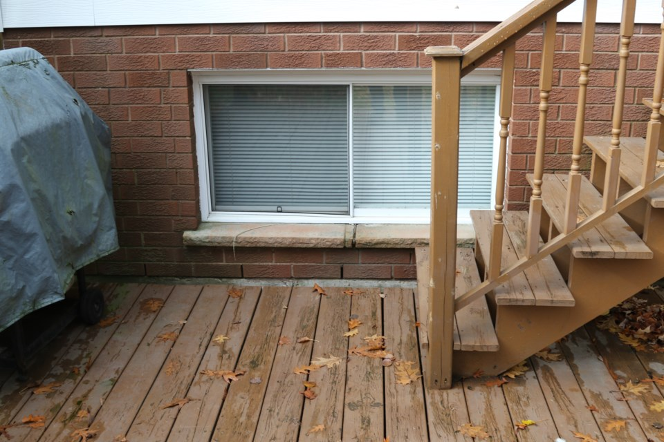 On Saturday morning, October 28,  a man entered a 20-year-old university student's bedroom window, stood over her bed, and smoked before taking off after the woman screamed. The window faced the young woman's backyard and looked very similar to this window (which is on a different home on the same block).  Jeff Klassen/SooToday