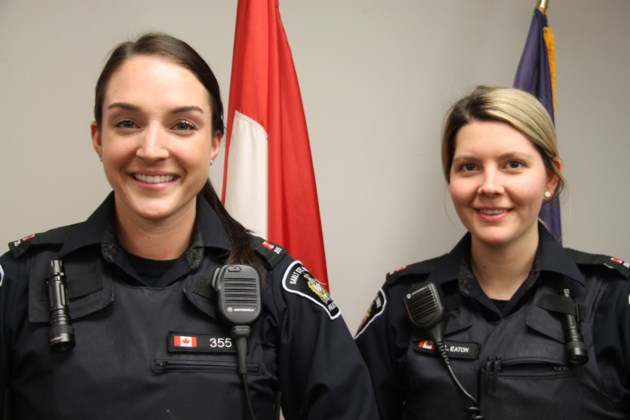 20171203-Sault Police Service Constables Kaitlin Morin and Lindsey Eaton-DT