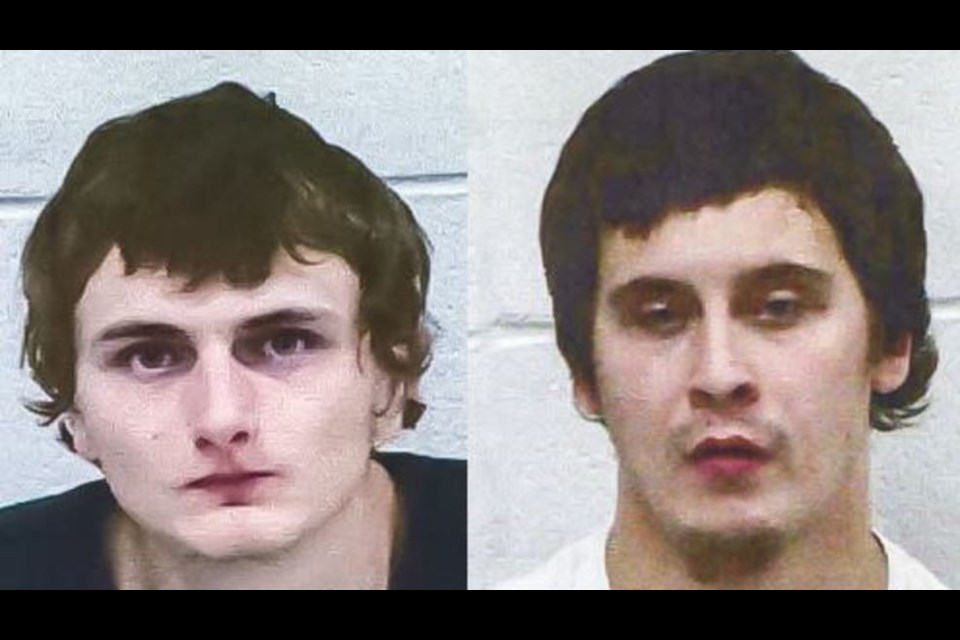 Mugshots of Jeremy Lehre (left) and Aaron Lehre (right). The cousins have been charged with open murder in the Nov. 1 death Wesley Cook. Chippewa County Sheriff's Office