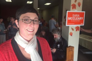 Door-knocking, corruption-fighting McCleary's on her 2nd pair of shoes <b>(3 photos)</b>