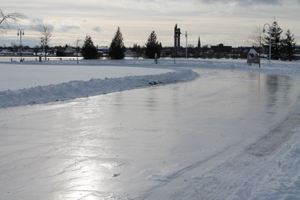 Skating trail is under construction at Clergue Park and adjoining John Rowswell Park. Supplied photo