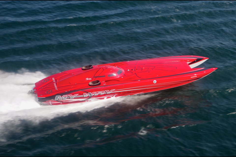 Aircraft-engine powered boat is the fastest craft at this ...