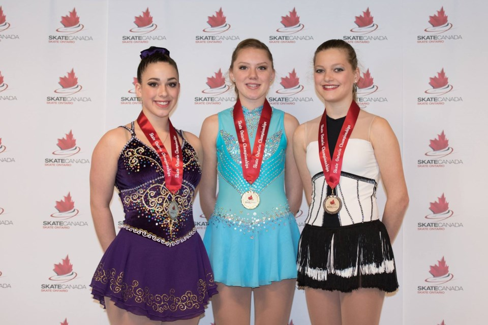 Cameron Smith and her bronze in the Triathlon Event at the 2016 Skate Ontario Championships. Photos by Sean McKinnon/Skate Ontario