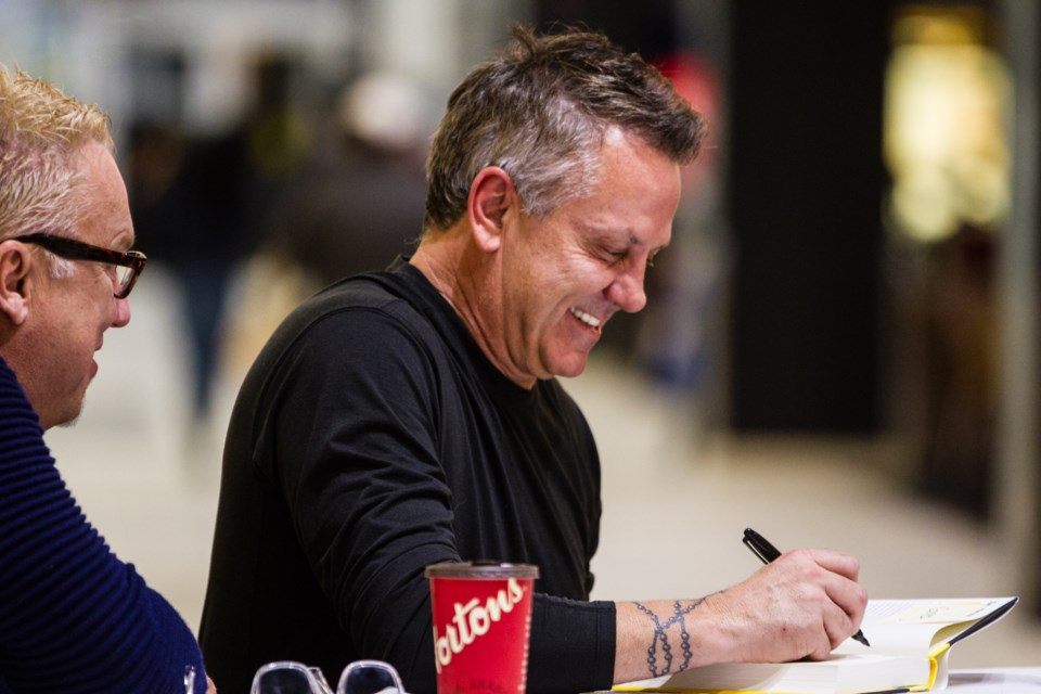 Former NHLer Doug Gilmour met with fans during a book signing event at the Station Mall on Tuesday, Nov. 1, 2017. Donna Hopper/SooToday