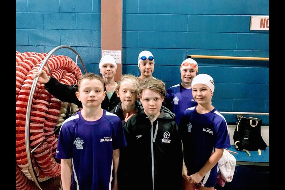 Back row: Brie Reid, Cree Chakasim, Ava Rocca. middle row - Tristan Stadnisky-Mayhew. Front row: Liam Watson, Evan Smith, Georgia Burns. Photo supplied