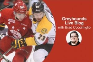 Live Blog: Soo Greyhounds vs. North Bay Battalion