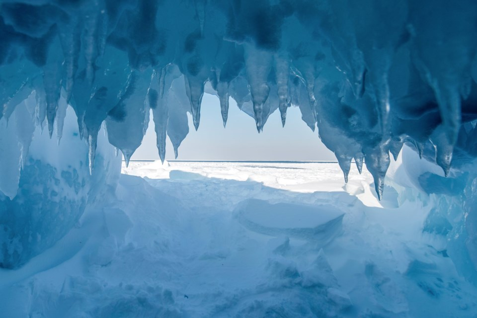 The New York Times ran this photo by Dan Grisdale with its entry on the Lake Superior Ice caves. Photo used with permission