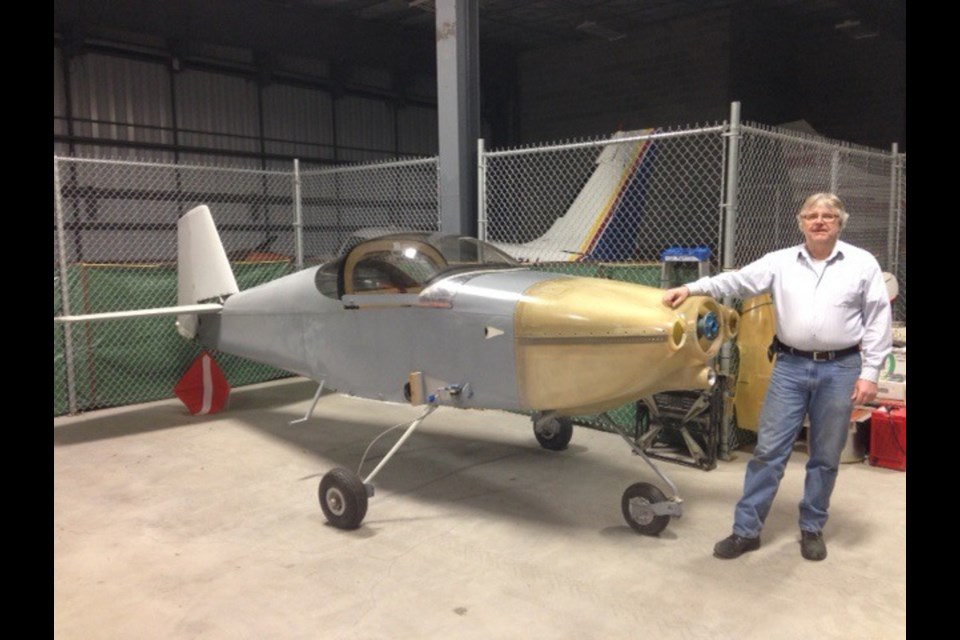 Terry Mortimore is looking forward to getting his airplane completed and in the air.  Photo supplied.