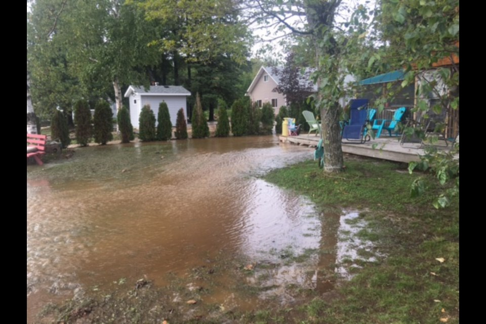 Flood damage in Goulais River, Sept. 5, 2018. Photo supplied by Josie Facca