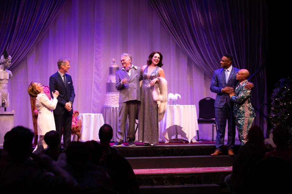 The Party debuted at the Citadel on March 30 and will run until April 21. It tells the story of two candidates of the Left party, Heather Straughan and Bill Biszy, competing for the attention of billionaire Jebediah (Butch) Buchanan. RYAN PARKER/Photo