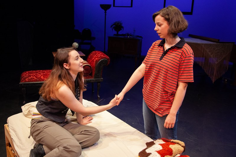 St. Albert actress Karina Cox, left, and Bella King star in Plain Jane Theatre's Fun Home, playing at Varscona Theatre from April 11 to 20. MAT BUSBY PHOTOGRAPHY/Photo