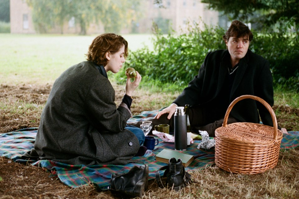 If a photograph could capture the essence of a fictional relationship on film, this would be it. Julie (Honor Swinton Byrne) has a lot of troubles with Anthony (Tom Burke) in director Joanna Hogg's beautiful and tragic relationship drama, The Souvenir. She aspires to greater things but there's something about Anthony that puts up a lot of obstacles to her path.