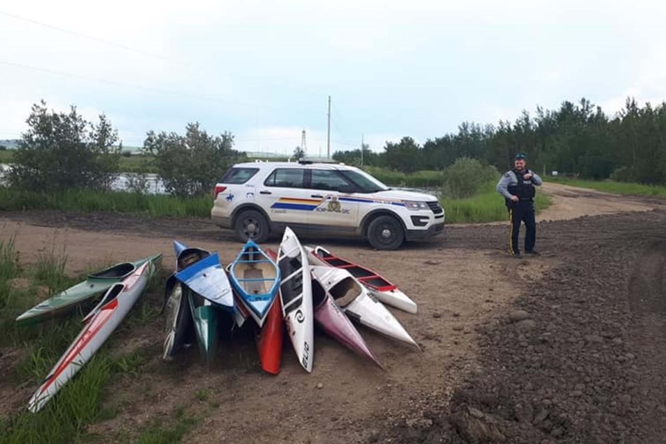 The St. Albert Canoe and Kayak Club recovered most of their canoes about a month ago near Thorsby when someone reported their discovery to the RCMP. ZAK MAHMOUDI/Photo