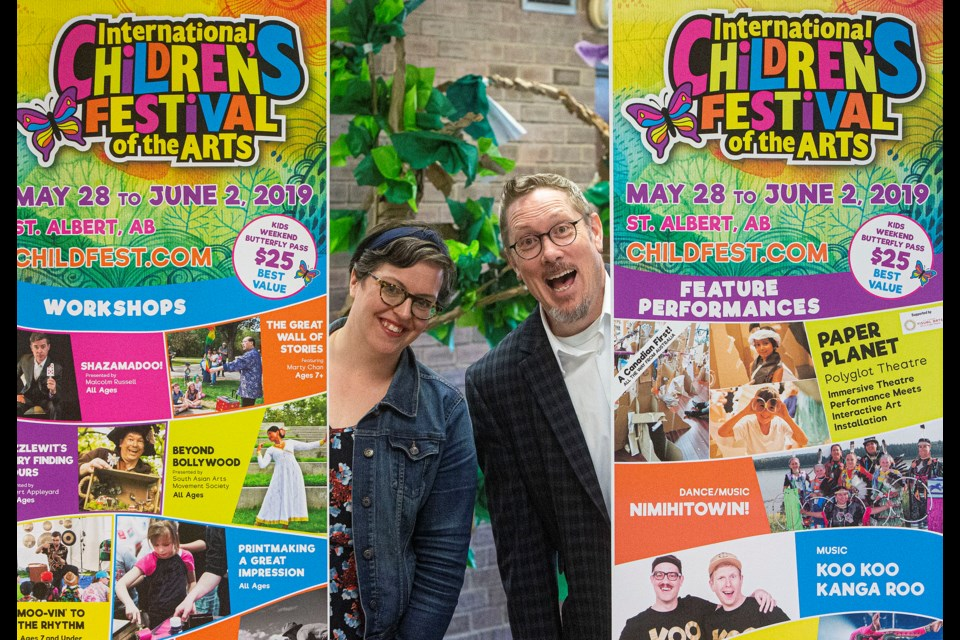 International Children's Festival Professional Programming Presenter Caitlin North and Paul Pearson, the new festival co-ordinator are gearing up for the annual St. Albert event that will see thousands of visitors and hundreds of performers turn downtown into a colourful and festive display. CHRIS COLBOURNE/St. Albert Gazette