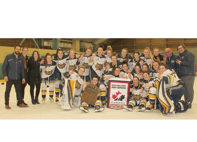 CHAMPIONS – The St. Albert Slash are returning to the Esso Cup as the two-time defending midget AAA female national champions after sweeping the Greater Vancouver Comets in the best-of-three Pacific Region series by scores of 5-2 and 3-0 last weekend at Akinsdale Arena. The Slash are 32-3-1 (148 GF/51 GA) in league, provincials and the national qualifier. The roster features five third-year players from the first Alberta team to win the Esso Cup and nine returnees from the first team to repeat in the tournament's 10-year history. The Slash finished 34-11-1 overall last season as Hockey Alberta's Team of the Year after going 38-4-1 in 2016-17. JEFF HANSEN/St. Albert Gazette