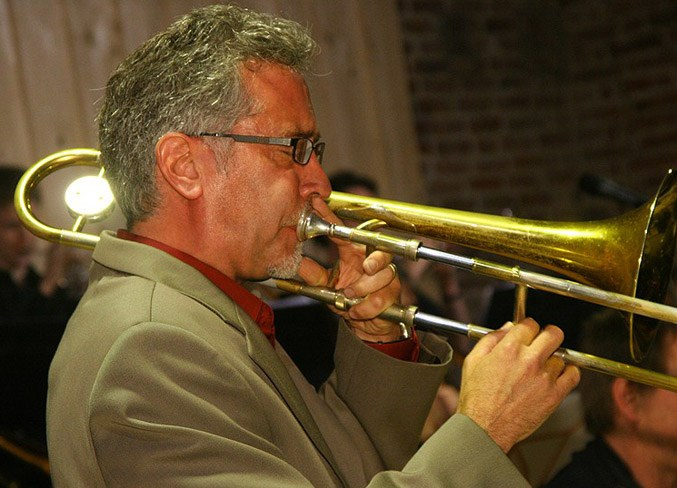Allen Jacobson, band leader of the Cosmopolitan Jazz Orchestra, is revving up the troops for another concert at Old Strathcona Performing Arts Centre on Saturday, March 16.