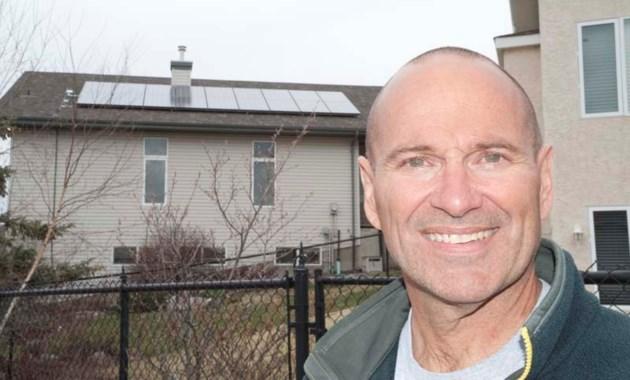 SOLAR POWERED – Paul Kane teacher Craig Dickey shows off the 4
