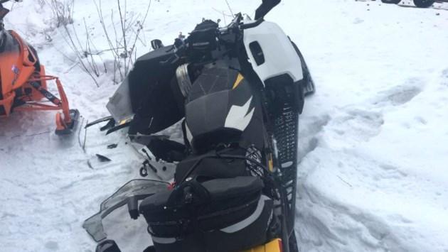 snow machine crash