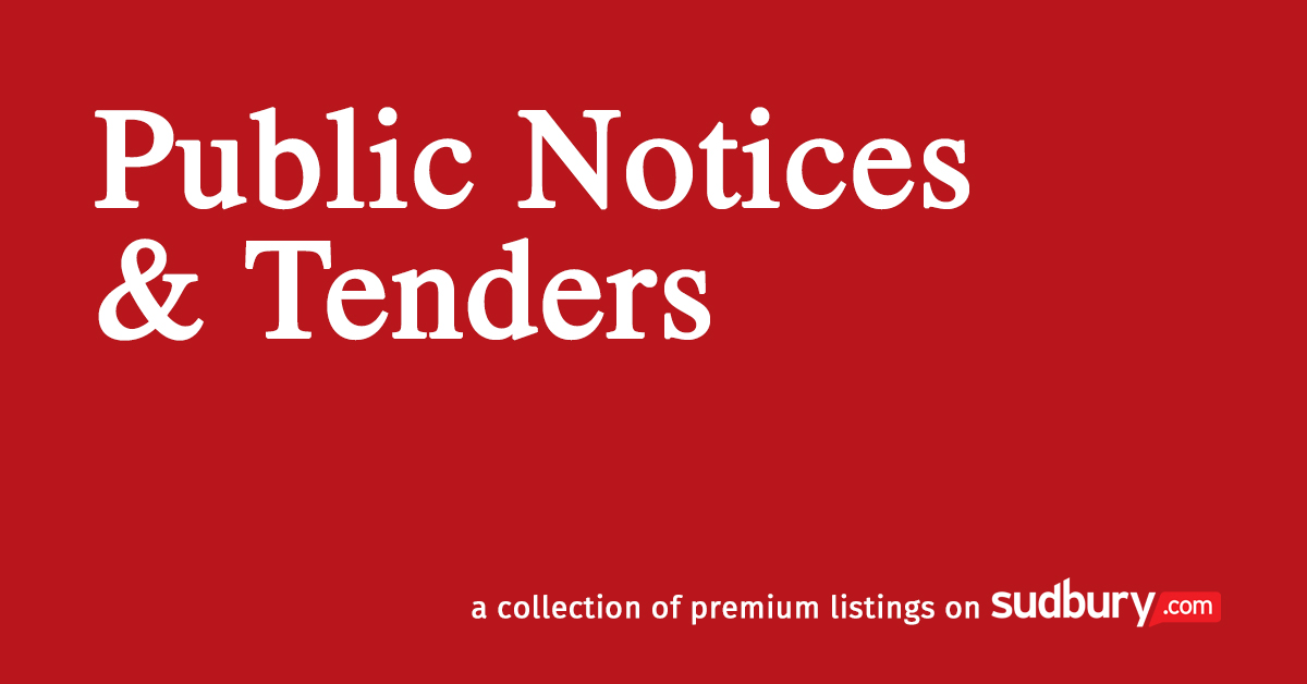 Public Notices and Tenders