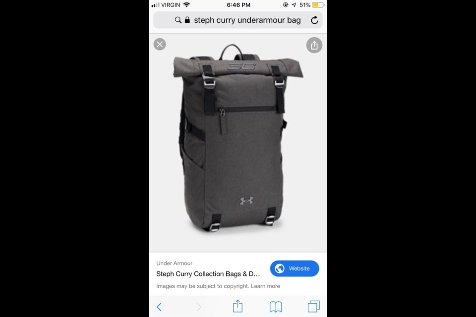 a19fc7fe Lost: Bag and basketball shoes at Tim Hortons - Sudbury.com