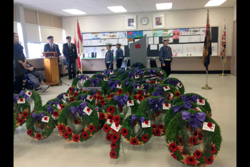 Reader Rick Grylls shared this image of Remembrance Day services at Falconbridge-Garson Legion Br. 336. Close to 300 people attended the service, including the Sudbury Pipe Band, Sudbury Sea Cadets and several active members of Canada's military forces. The services was followed by a luncheon served by the Ladies Auxiliary of Branch 336.