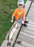 'Kingfisher' reels in a nice pike on Minnow Lake