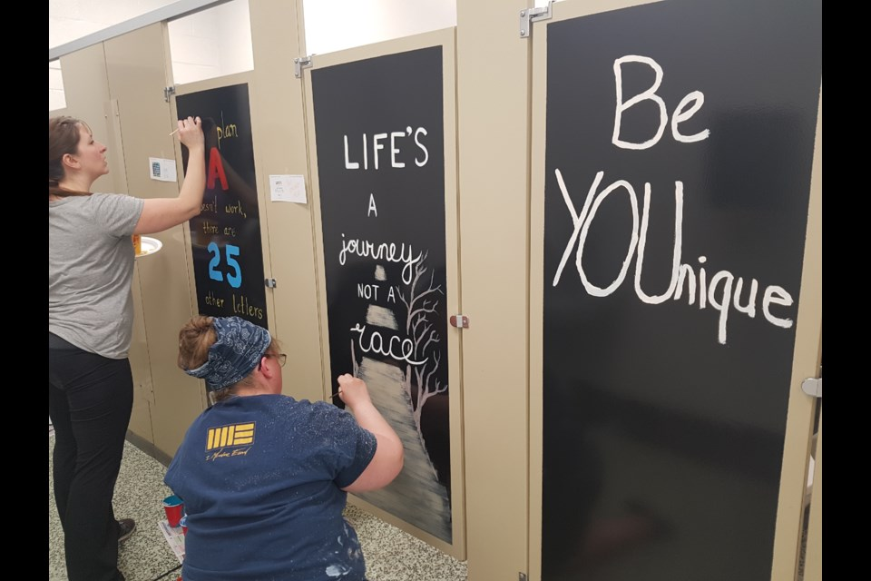 Bathroom Stalls At This Chelmsford Elementary School Are Now Works - School bathroom stalls
