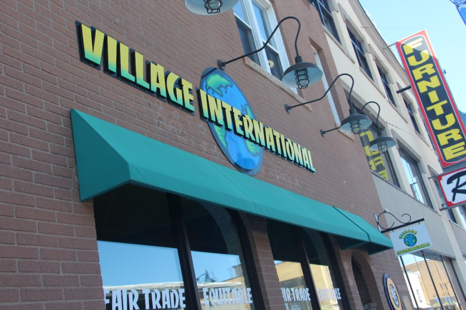 Village International, located at 139 Durham St., is closing its doors this spring after two-and-a-half decades in business. (Heidi Ulrichsen/Sudbury.com)