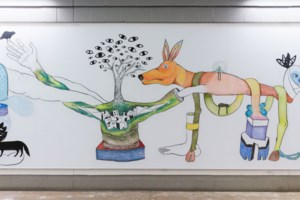 Z'otz* Collective creating 'ephemeral' mural at GNO