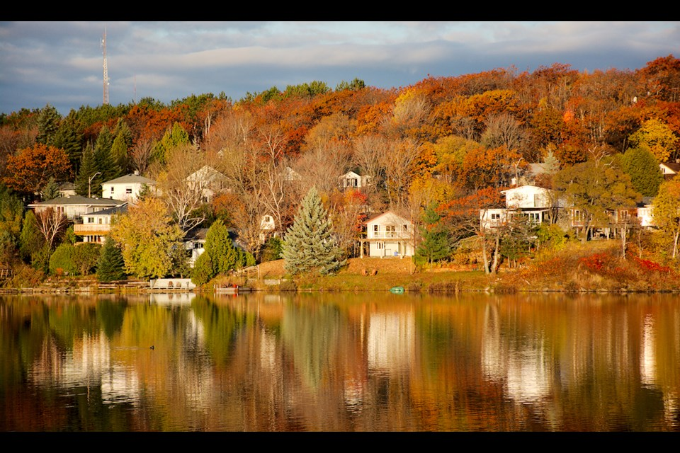 If you didn't know this was Minnow Lake, you might mistake Dave Anderson's photo for a fishing village somewhere.