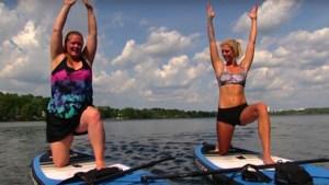 <b>Staff Tries: Heather attempts paddle board yoga</b>